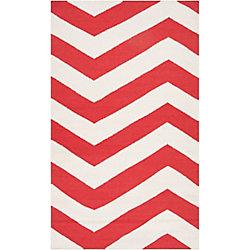 Artistic Weavers Carpette d'intérieur, 2 pi x 3 pi, style contemporain, rectangulaire, rouge Franca