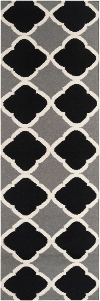 Cascavel Gray Wool Flatweave 2 Feet 6 Inch x 8 Feet Runner