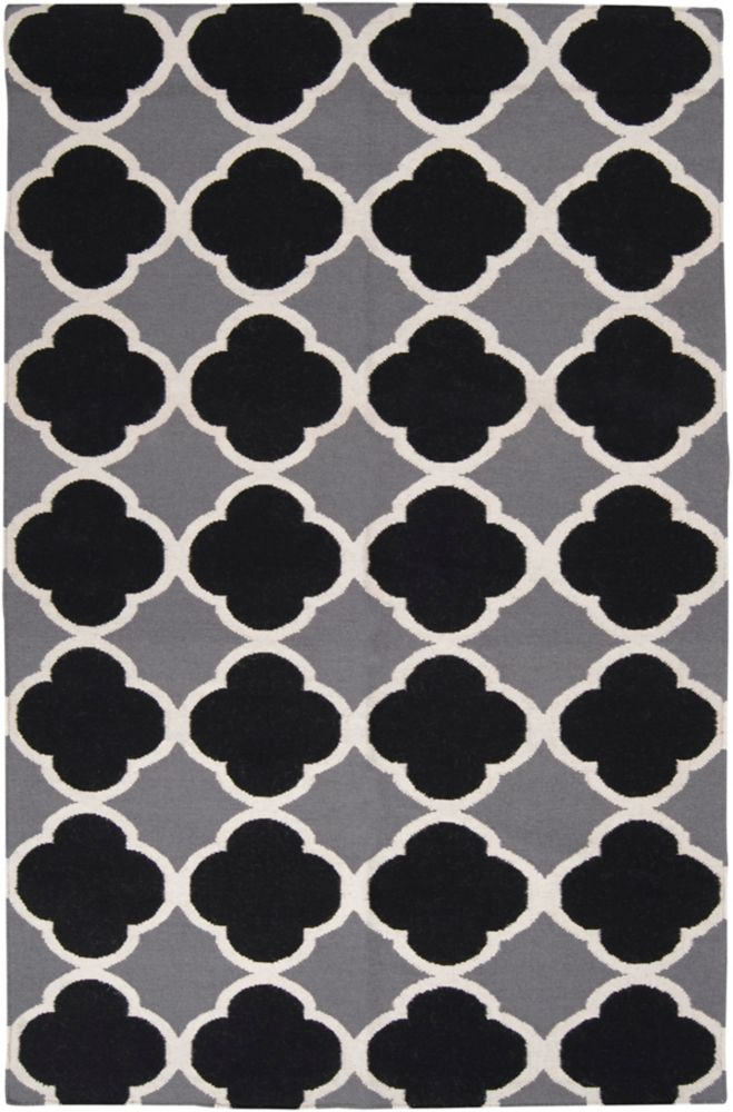 Cascavel Gray Wool Flatweave 5 Ft. x 8 Ft. Area Rug