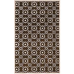 Artistic Weavers Carpette d'intérieur, 5 pi x 8 pi, à poils longs, style contemporain, rectangulaire, blanc cassé Taintrux