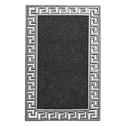 Modern Homes Mosaic Mantel Silver 1 ft. 6-inch x 2 ft. 6-inch Indoor/Outdoor Rectangular Accent Mat