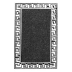 Modern Homes Mosaic Mantel Silver 1 ft. 6-inch x 2 ft. 6-inch Indoor/Outdoor Rectangular Accent Mat