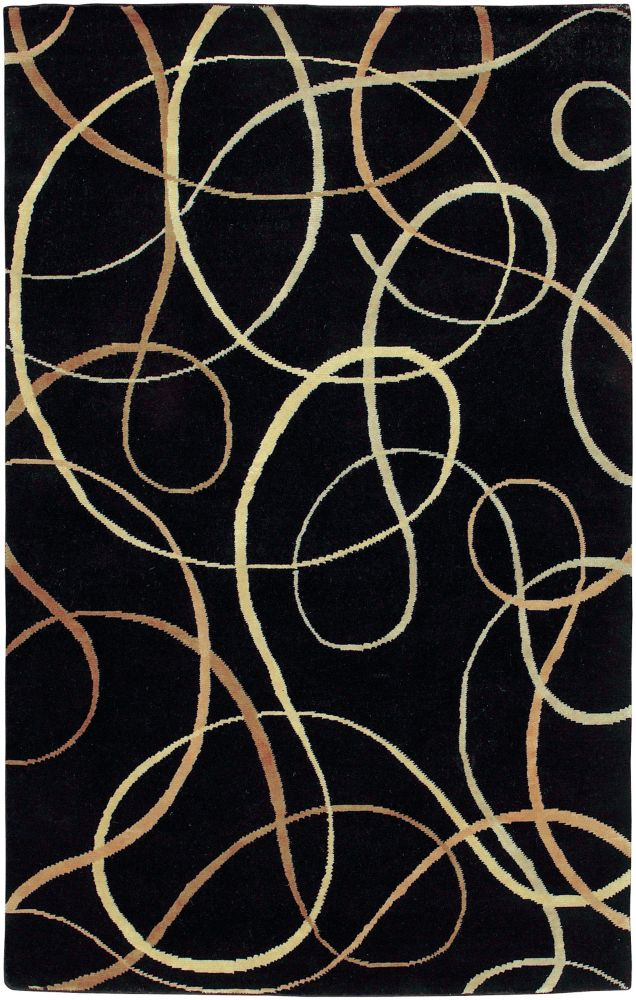 Artistic Weavers Parambuco Black 5 ft. x 8 ft. Indoor Transitional Rectangular Area Rug