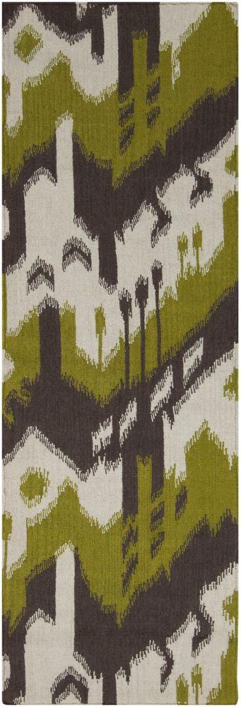Belem Wasabi Wool Flatweave 2 Feet 6 Inch x 8 Feet Runner