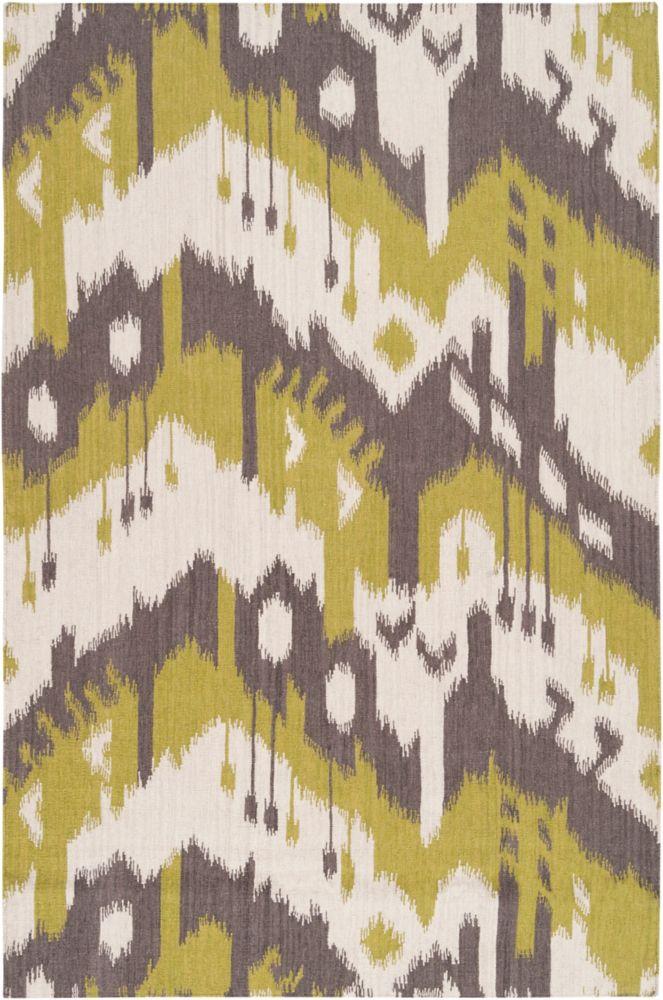 Belem Wasabi Wool Flatweave 8 Feet x 11 Feet Area Rug