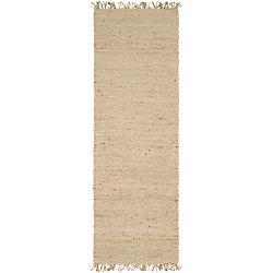 Artistic Weavers Tapis de passage d'intérieur, 2 pi 6 po x 7 pi 6 po, tissage texturé, havane Goana