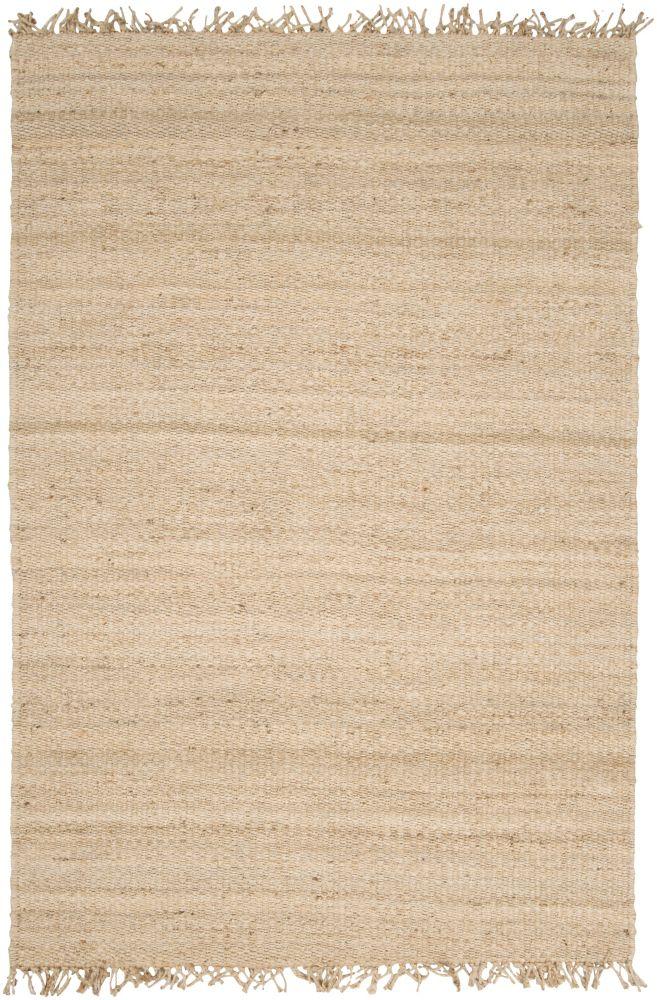 Tapis Carpette Goana délavée en jute - 8 Po. x 10 Po. 6 Pi.