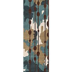 Artistic Weavers Tapis de passage d'intérieur, 2 pi 6 po x 8 pi, style contemporain, bleu Clarines