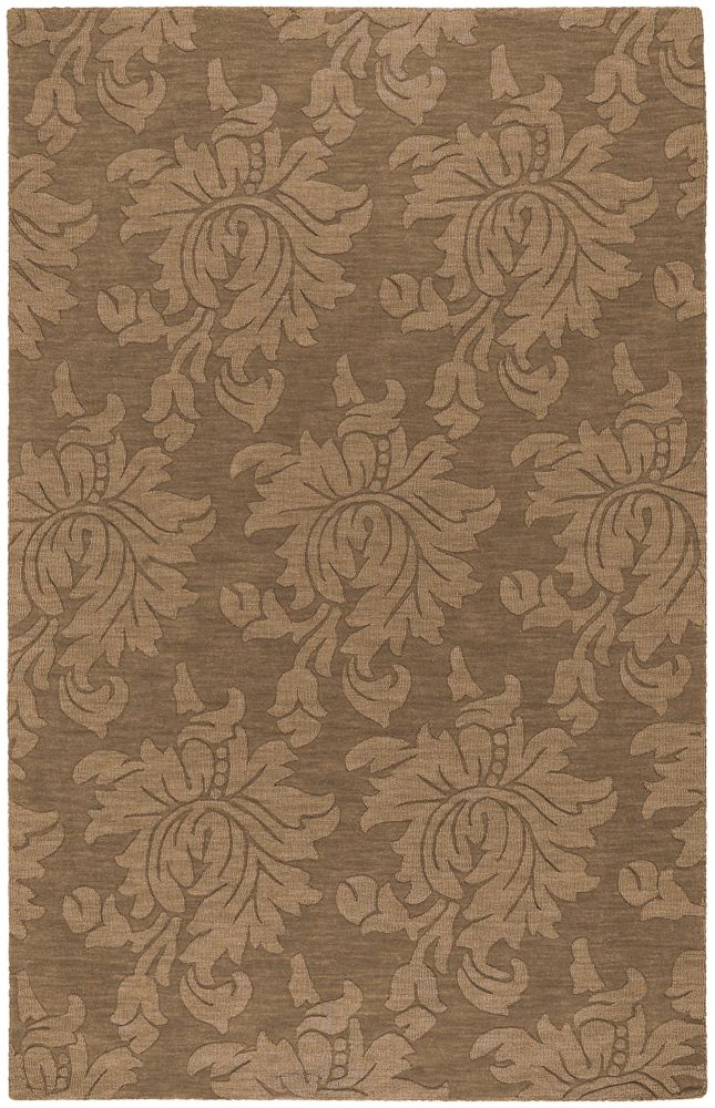 Onoto Brown Wool  - 5 Ft. x 8 Ft. Area Rug