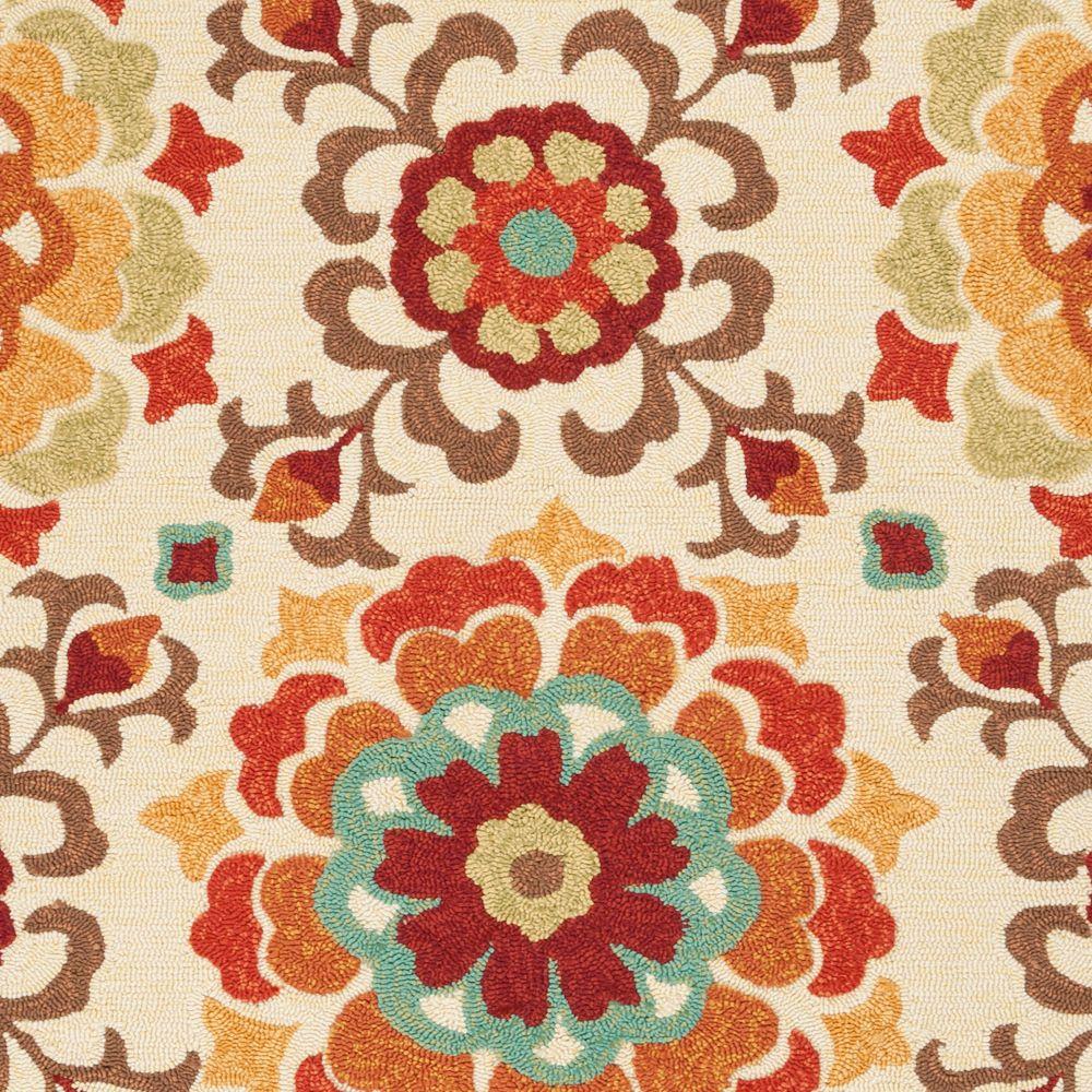 Artistic Weavers  Tapis Carpette Ateria vanille en polypropylène pour intérieur/extérieur - 8 Po. x 10 Po. 6 Pi.