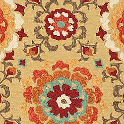 Artistic Weavers Carpette d'intérieur/extérieur, 2 pi x 3 pi, style transitionnel, rectangulaire, jaune Ayolas