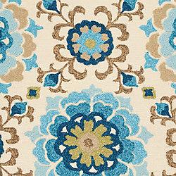 Artistic Weavers Tapis de passage d'intérieur/extérieur, 2 pi 6 po x 8 pi, style transitionnel, bleu Aceval
