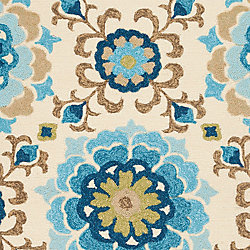 Artistic Weavers Aceval Blue 8 ft. x 10 ft. 6-inch Indoor/Outdoor Transitional Rectangular Area Rug