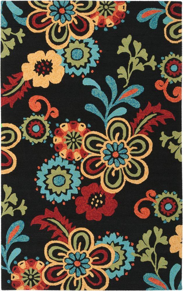 Artistic Weavers Oviedo Black 8 ft. x 10 ft. 6-inch Indoor/Outdoor Transitional Rectangular Area Rug