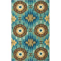 Artistic Weavers Bertoni Blue 5 ft. x 7 ft. 6-inch Indoor/Outdoor Transitional Rectangular Area Rug