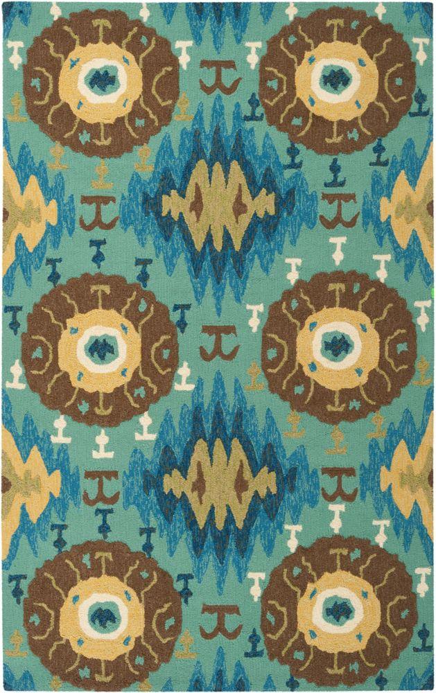 Artistic weavers tapis carpette bertoni vert palmier en for Tapis exterieur 8x10