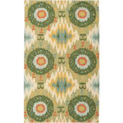 Artistic Weavers Carpette d'intérieur/extérieur, 2 pi x 3 pi, style transitionnel, rectangulaire, vert Estigarbia