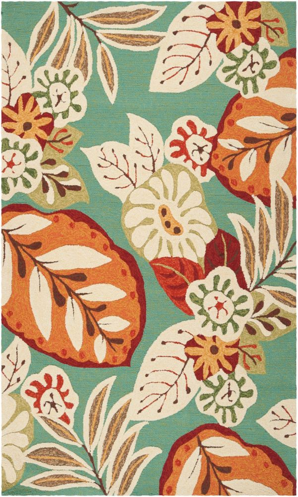 Artistic Weavers Tapis de passage d'intérieur/extérieur, 8 pi x 10 pi 6 po, style transitionnel, rectangulaire, orange Paysandra