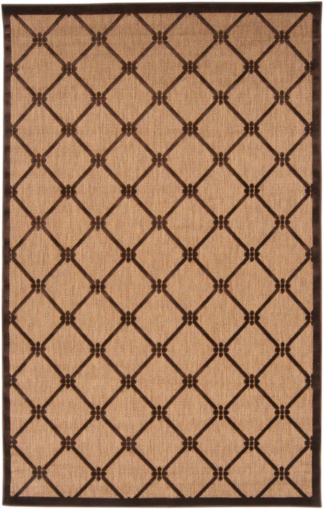 Yaritagua Natural Olefin Indoor/Outdoor  - 5 Ft. x 7 Ft. 6 In. Area Rug
