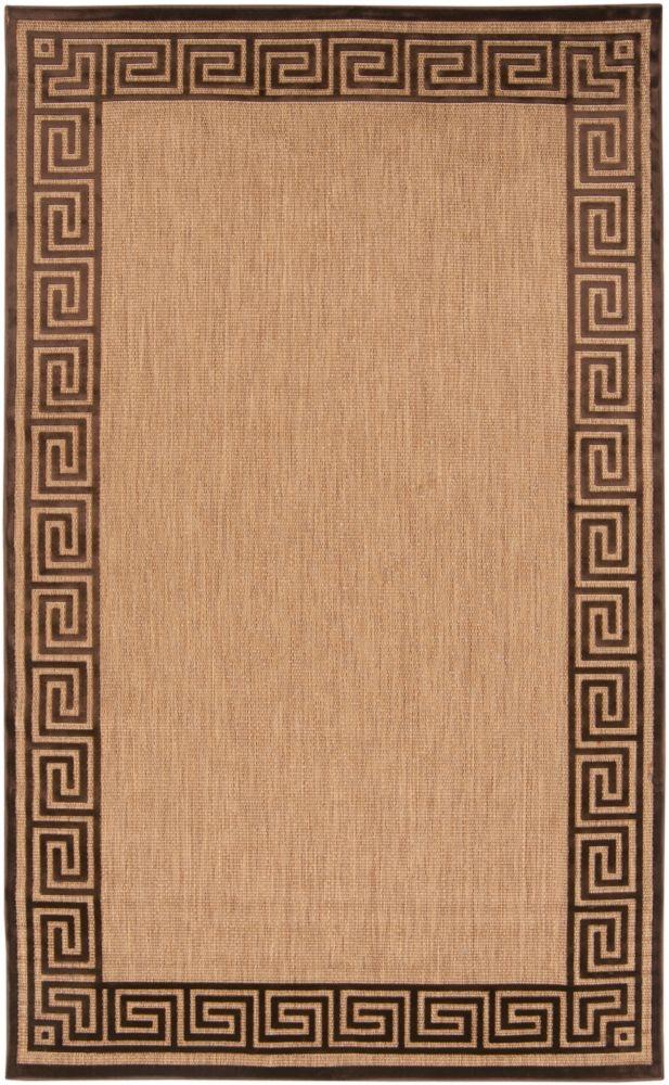 Tapis Carpette Sinamaca naturelle en oléfine pour intérieur/extérieur - 7 Po. 10 Pi. x 10 Po. 8 P...