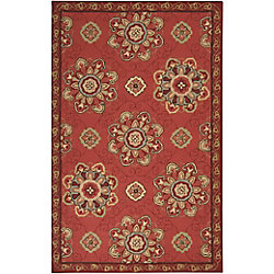 Artistic Weavers Tapis de passage d'intérieur/extérieur, 5 pi x 8 pi, style transitionnel, rectangulaire, rouge Tulcan