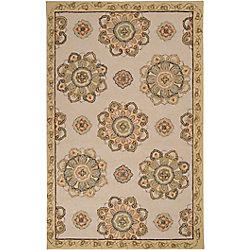 Artistic Weavers Carpette d'intérieur/extérieur, 2 pi x 3 pi, style transitionnel, rectangulaire, jaune Sucre