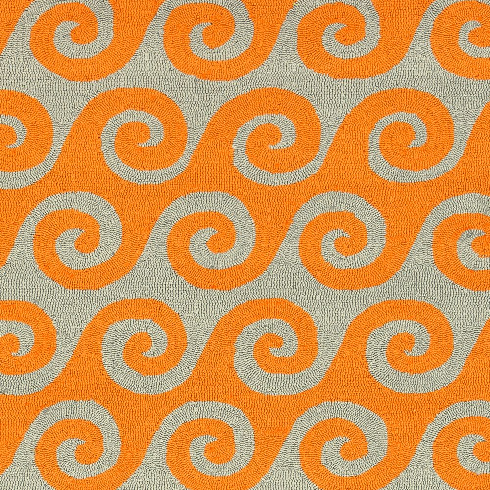 Abenaston Pumpkin Polypropylene Indoor/Outdoor Accent Rug - 2 Ft. x 3 Ft. Area Rug Abenaston-A in Canada