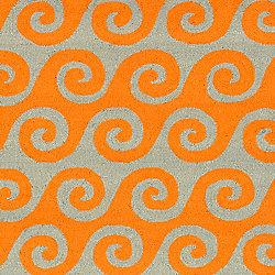 Artistic Weavers Tapis de passage d'intérieur/extérieur, 2 pi 6 po x 8 pi, style transitionnel, orange Abenaston