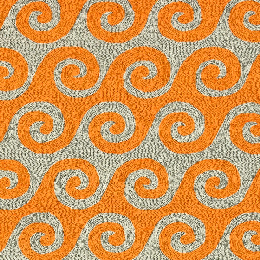 Artistic Weavers Abenaston Orange 5 ft. x 8 ft. Indoor/Outdoor Transitional Rectangular Area Rug