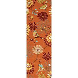 Artistic Weavers Tapis de passage d'intérieur/extérieur, 2 pi 6 po x 8 pi, style transitionnel, orange Guzora Moss