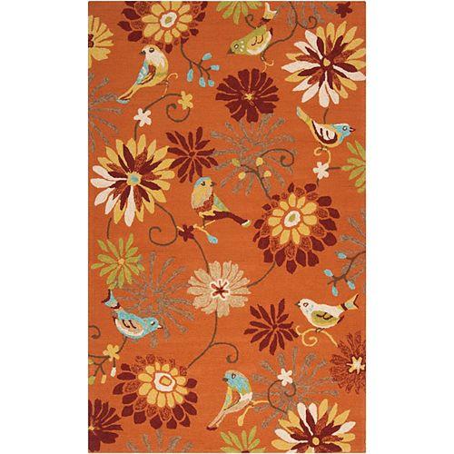 Artistic Weavers Guzora Moss Orange 5 ft. x 8 ft. Indoor/Outdoor Transitional Rectangular Area Rug