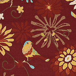 Artistic Weavers Tapis de passage d'intérieur/extérieur, 8 pi x 10 pi, style transitionnel, rectangulaire, rouge Akkula