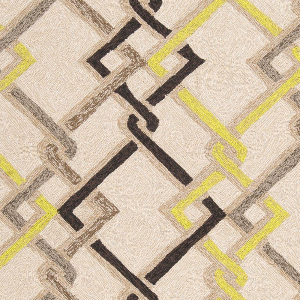 Tapis Carpette Asaka ivoire en polypropylène pour intérieur/extérieur - 8 Po. x 10 Po.