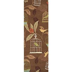 Artistic Weavers Tapis de passage d'intérieur/extérieur, 2 pi 6 po x 8 pi, style transitionnel, brun Gulison