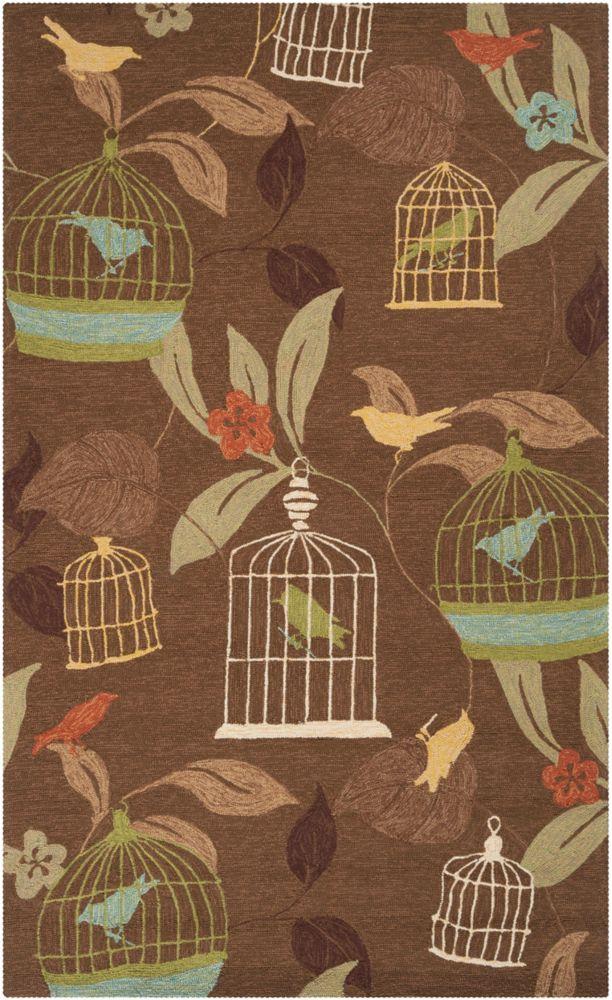 Artistic Weavers Gulison Brown 5 ft. x 8 ft. Indoor/Outdoor Transitional Rectangular Area Rug