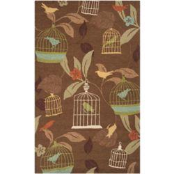 Artistic Weavers Tapis de passage d'intérieur/extérieur, 5 pi x 8 pi, style transitionnel, rectangulaire, brun Gulison