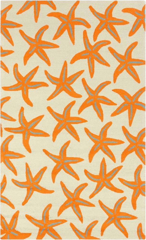 Regina Orange 8 ft. x 10 ft. Indoor/Outdoor Transitional Rectangular Area Rug