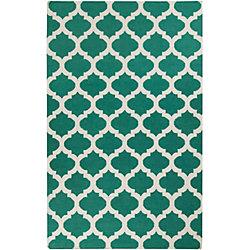 Artistic Weavers Carpette d'intérieur, 5 pi x 8 pi, à poils longs, style contemporain, rectangulaire, bleu Saffre