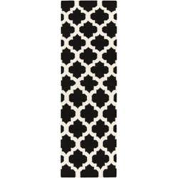 Artistic Weavers Tapis de passage d'intérieur, 2 pi 6 po x 8 pi, style contemporain, noir Saffre