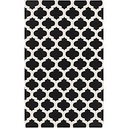 Artistic Weavers Carpette d'intérieur, 8 pi x 11 pi, style contemporain, rectangulaire, noir Saffre