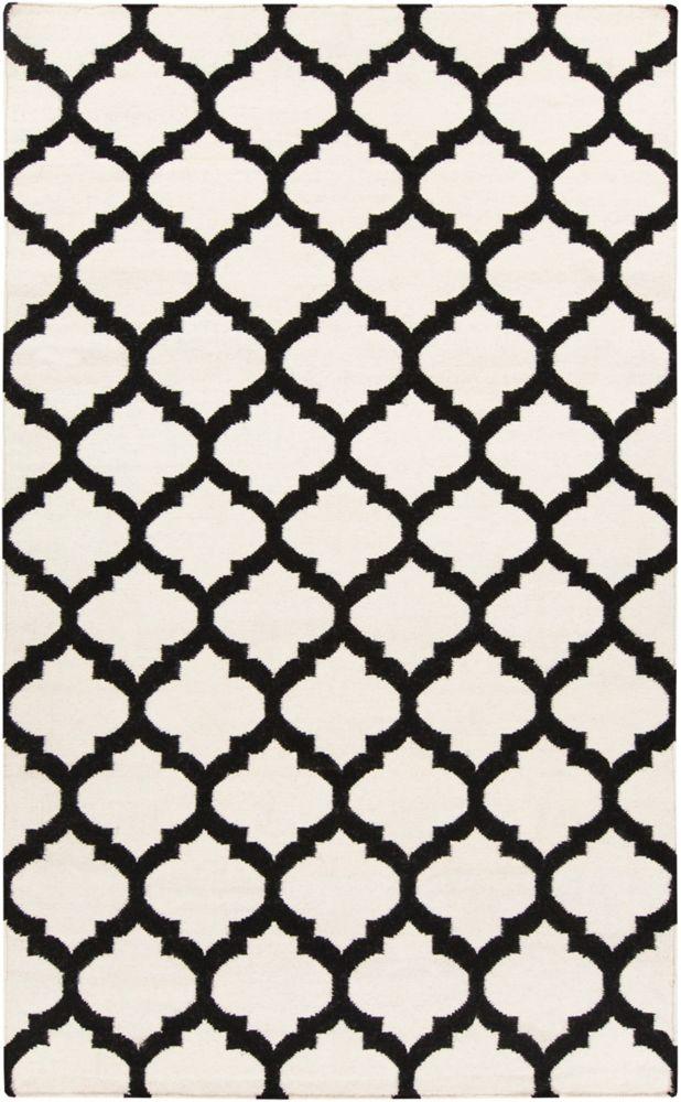 Saffre Ivory Wool 5 Ft. x 8 Ft. Area Rug