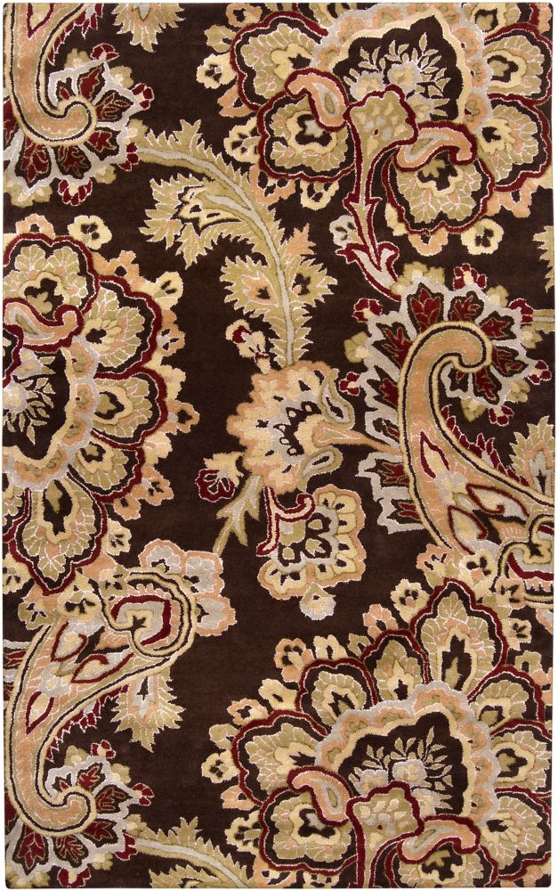Delado Chocolate New Zealand Wool Accent Rug - 2 Ft. x 3 Ft. Area Rug