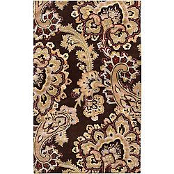Artistic Weavers Carpette d'intérieur, 5 pi x 8 pi, style transitionnel, rectangulaire, noir Delado