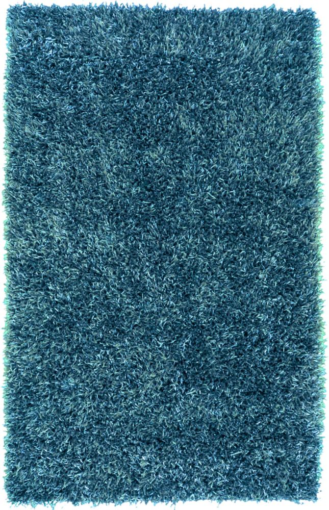 Gualla Teal Blue Polyester Shag 8 Ft. x 10 Ft. 6 In. Area Rug