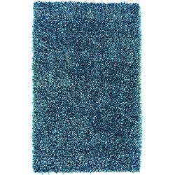 Artistic Weavers Carpette d'intérieur, 8 pi x 10 pi 6 po, style transitionnel, rectangulaire, bleu Gualla