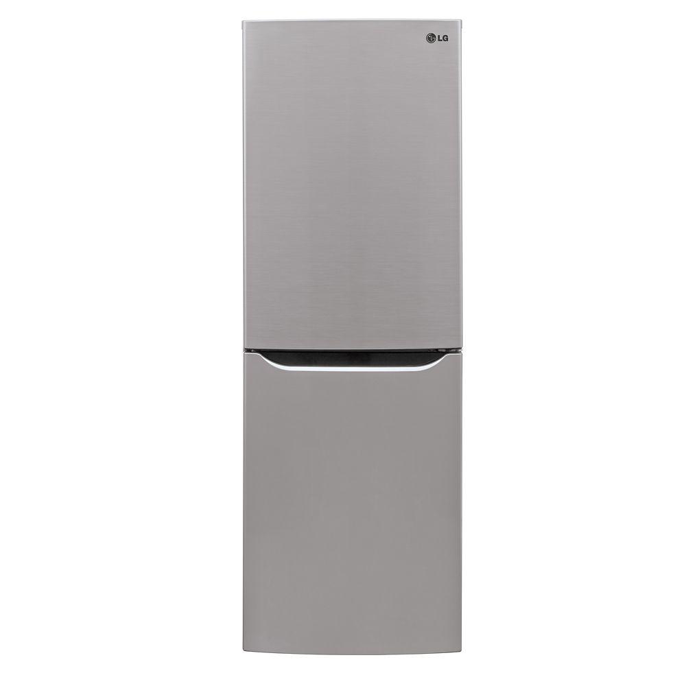 10.2 cu. ft. Refrigerator with Bottom Freezer and Swing Door in Platinum Silver