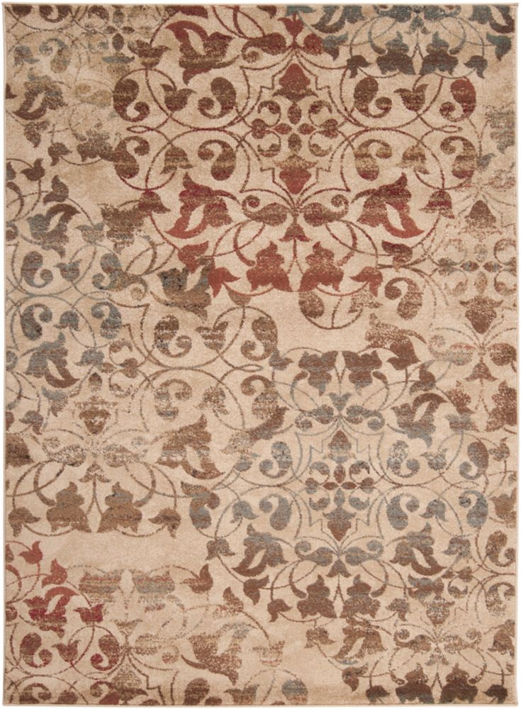 Carpette Kondre poire clair en polypropylène - 7 pieds 10 pouces x 10 pieds 10 pouces