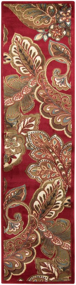 Nickerie Red 2 ft. x 7 ft. 5-inch Indoor Transitional Runner