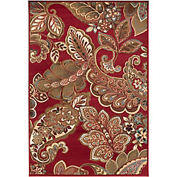 Artistic Weavers Nickerie Red 7 ft. 10-inch x 10 ft. 10-inch Indoor Transitional Rectangular Area Rug