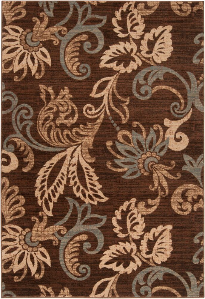 Pokigra Coffee Bean Polypropylene  - 5 Ft. 3 In. x 7 Ft. 6 In. Area Rug